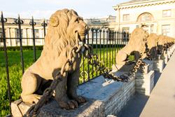 Львы в усадьбе Безбородько в Санкт-Петербурге