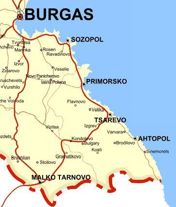 Karta Burgasa Kuda Otpravitsya V Bolgarii