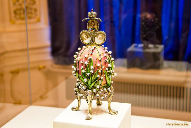 Музей Фаберже в Санкт-Петербурге - яйцо Ландыши