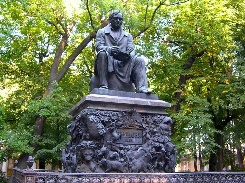 Памятник в санкт петербурге крылову изготовление памятников в омске твери